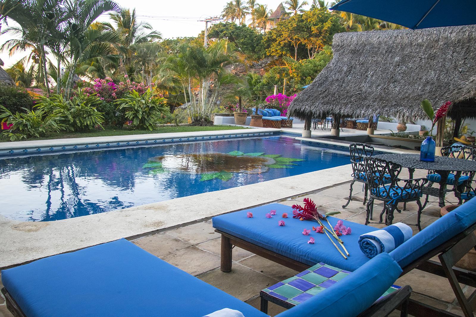 Salt Water Pool at Casa Aqua Bella - Vacation Rental - San Pancho
